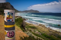 Wistand bay, L'Oceano Atlantico si abbatte con forze sulla costa, paradiso dei surfisti.