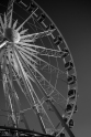 La ruota panoramica posta in centro città