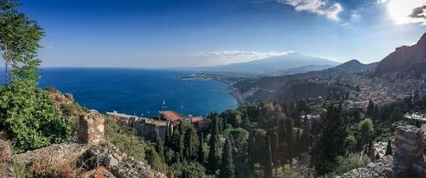 Paesaggio dal teatro greco