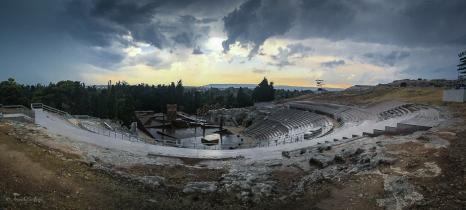 Teatro greco di Siracusa dopo il temporale