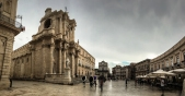 Ortigia, Duomo di Siracusa costruito sulle rovine dell'antichissimo tempio pagano.