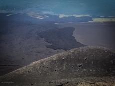 La recente colata a seguito dell'eruzione del 2003