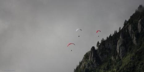 In volo sopra la valle di Chamonix