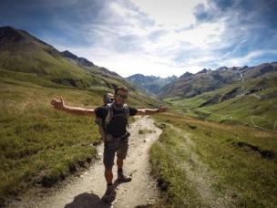 Verdo il Col de la Seigne l'Italia e' vicina!!