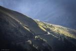 La tramvia del Monte bianco, che porta gli alpinisti dal Col de Voza fino al Nid de l'Aigle