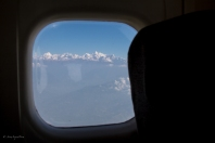 Decollati da Khatmandu si vedono le altissime cime Himalayane